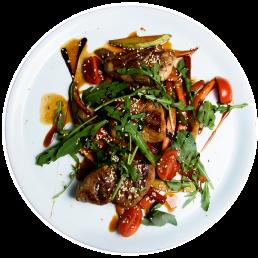 Свински стекчета с азиатски зеленчуци