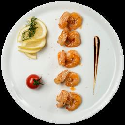 Скариди в пикантен сладко - лютив сос